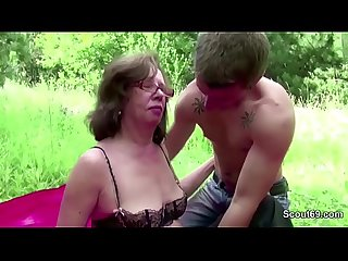 Young boy seduce grandpa to fuck her Ass and cum in face