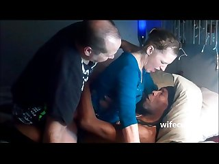 Cuckold couple in action with a black bull wifecuck com