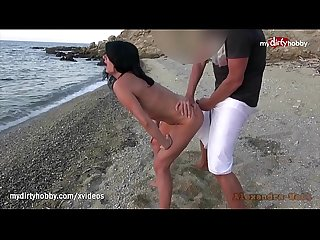 My dirty hobby hot milf fucked on public beach