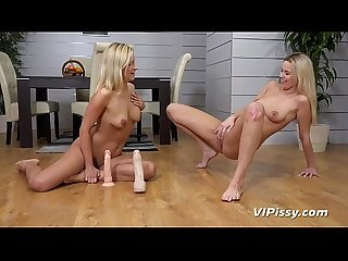 Lesbian Piss Drinking - Bianca Ferrero and Nikki Dream get showered in pee