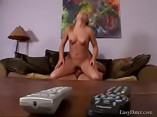 Easydater katlin reaches for remote not Ass