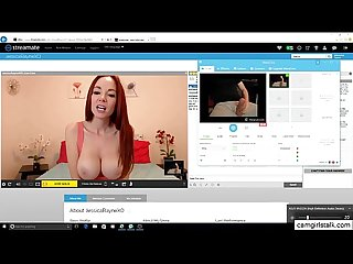 Hot busty camgirl loves huge fat cock cum camgirlstalk com