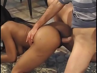 Three superb non european sluts takes part in orgy and gets their pussies fucked hard