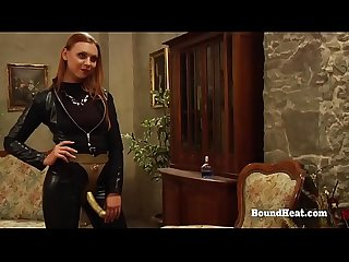 The Education of Erica: Lesbian Mistress In Leather With Big Strapon Bangs Two Young Slaves