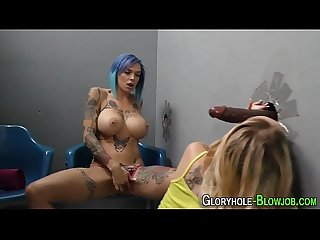 Gloryhole sluts share bbc