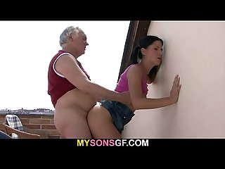 Horny father fucks his son S girlfriend