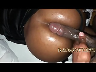 Huge black cock pounds round booty ebony chick