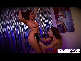 Intimate lesbians jessica jaymes and abigail mac strip a fuck for you