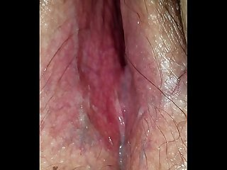 Playing with my pussy making it wet for my hubby fuck me good period