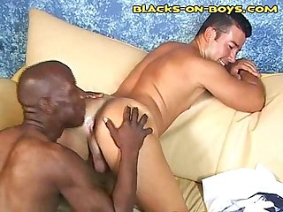 Interracial ass eating