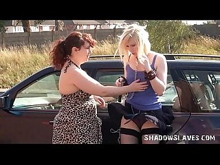 Satine spark in public lesbian bondage and voyeur humiliation