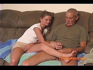 Daddy fucks daughter while mom s at work