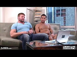 Straight dude tries hardcore gay anal