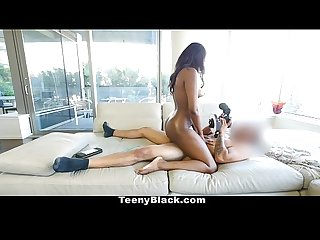 Teenyblack hot ebony teen first porn