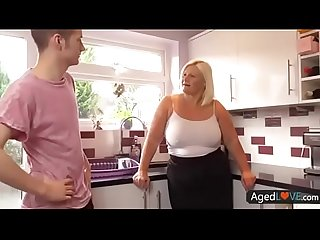 blonde bbw kitchen
