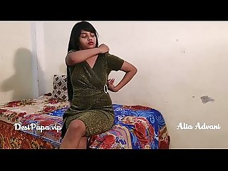 indian model Alia Advani stripping teasing solo sex