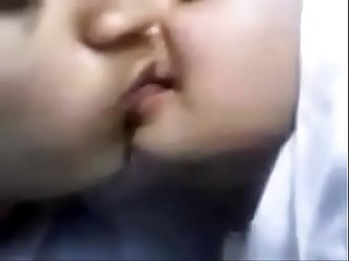 Pakistani college couple lip locks french kiss
