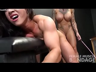 Naked female Bodybuilders bondage play