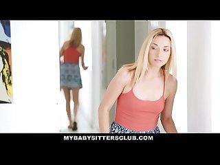 Mybabysittersclub caught the babysitter touching my cock