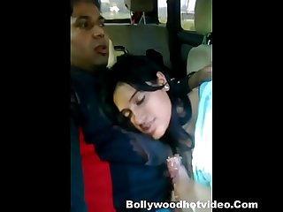 Desi couple enjoying in car