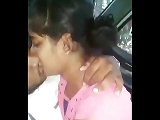 Telugu girl sucking in car