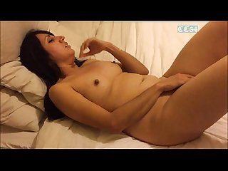 Naked Desi milfs on bed fully naked and masturbating shaved pussies