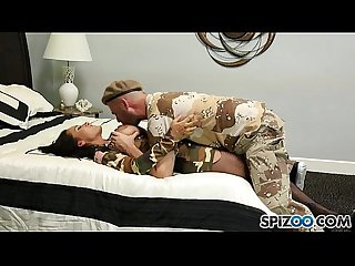 Army dude drills hot babe in her pussy pie - exxxtravideos.com