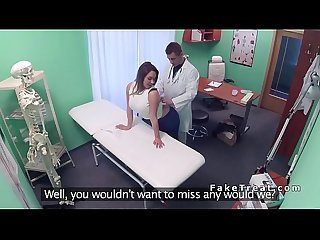 Busty patient pulls out doctors dick in fake hospital