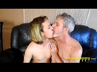 Gay 19-year-old Twink & 50yo Daddy Kissing and Tongue Worship - Zeke Wolf - Richard Lennox -..