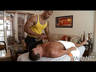 Homosexual raunchy massage
