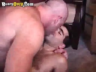 Sexy hairy men making out