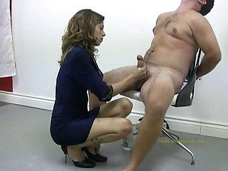 Dominating handjob