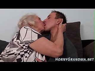 Buxom cougar takes cum
