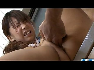 Maki Sakashita big tits teen drilled roughly