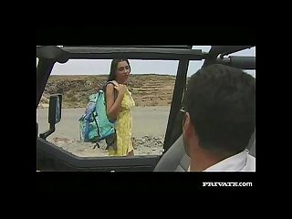 Amanda, Blowjob and Anal Sex in the Jeep