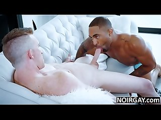 Black hunk fucks his white gf's gay brother