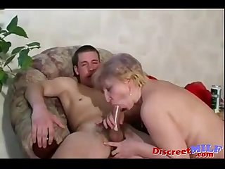 Russian moms irina gets fucked by young guy