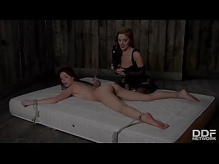 Submissive ass fisting addict Susana Melo dominated by Dominica Phoenix