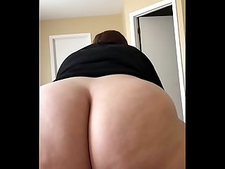 Big Ass Riding Black Cock in Reverse Cowgirl