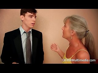 Stepmom fucks young son on prom night and takes his virginity leilani lei
