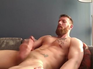 Bearded tatted hunk shoots load more gayboy ca