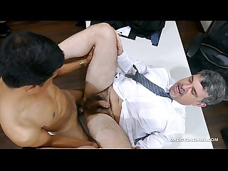 Daddy and asian boy alex flip fuck