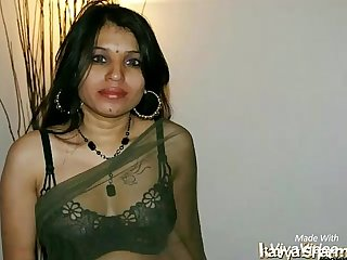 Kavya Sharma Indian Pornstar Nude In Black Transparent Saree