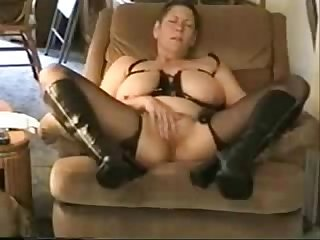 Great orgasm of slut granny. Amateur