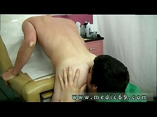 Gay twink on locker room movies leaned over the table and stuck his