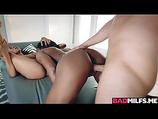 Interracial 3some sex with MILF Yasmine and Mya