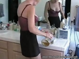 Nervous wife plays the sex game
