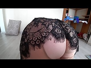Girlfriend fuck busty blonde mature bbw doggystyle shakes a big booty in pantyhose