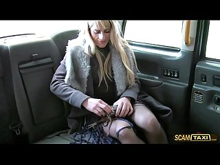 Lovely czech lady goes hardcore anal sex inside the cab