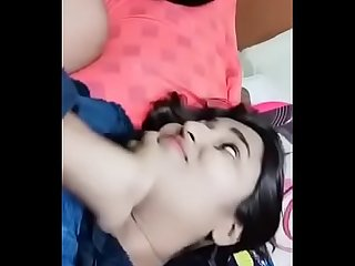 Swathi naidu getting kissed by her boyfriend
